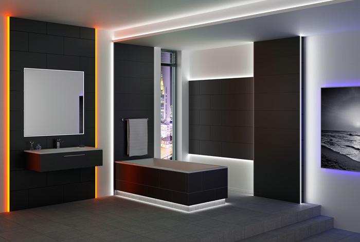 Lampe Dusche Wasserdicht : Aufbau der Profile Aufbau in der Wand Vielf?ltige Anwendungen LEDs